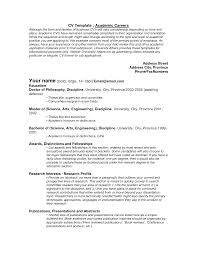 curriculum vitae templates for word gallery of cv templates academic academic resume template 10