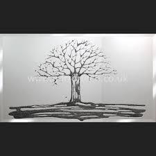 mt88 black glitter swarovski tree on mirror