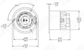 leviton 125 250v 30a nema l14 30p locking flanged inlet l14 30p f
