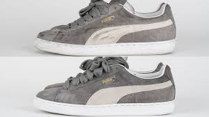 how to clean light suede shoes how to clean suede puma s tutorial youtube