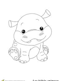 Coloriage Hippopotame sur Hugolescargotcom