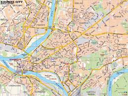 Map Of Lithuania Large Kaunas Maps For Free Download And Print High Resolution
