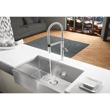 kitchen faucet gpm blanco 441407 culina satin nickel pro pre rinse units kitchen