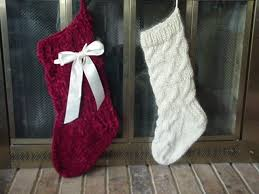 cable knit christmas pickin and throwin basic sock christmas w satin bow