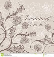 elegant wedding invitation card for design royalty free stock