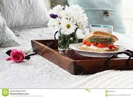 Breakfast In Bed Table by Salmon On Ciabatta Breakfast In Bed Stock Photo Image 69840466