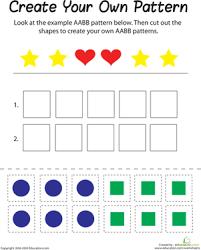 aabb pattern worksheet education com