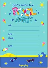 pool party invitations pool party invitations with envelopes 15 count