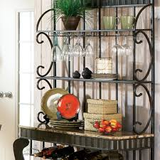 Bakers Racks For Kitchens Furniture Bakers Rack Home Depot Metal Bakers Rack Vintage