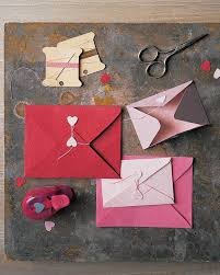 How To Fold Paper For Envelope Valentine U0027s Day Cards Martha Stewart
