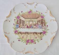 the last supper plates 1950s vintage the last supper 8 collector plate with 18k gold trim