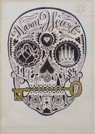 warm hear sugar skull tattoo print real photo pictures images