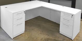 L Shaped White Desk White 4 Office Furniture Package White L Shaped Computer
