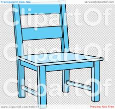 Wooden Chair Clipart Png Royalty Free Rf Clipart Illustration Of A Blue Wooden Chair By