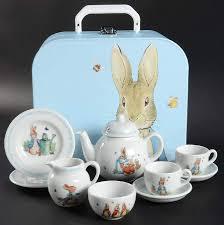 bunny tea set rabbit 10 boxed child s tea set by wedgwood