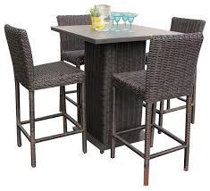 Narrow Outdoor Bar Table Patio Tables Deck Or Garden The Home Depot With Outdoor Bar Stool
