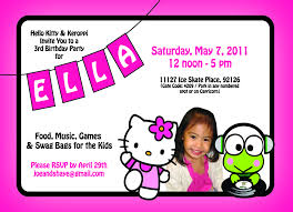 Hello Kitty Birthday Invitation Card Ella U0027s 3rd Birthday Hello Kitty U0026 Keroppi Theme Relished