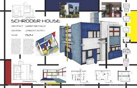 schroder house site plan singular method presentation drawing 2pt