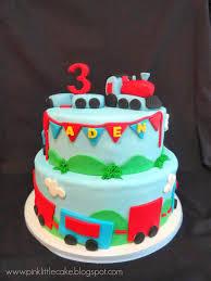 my pink little cake train cake