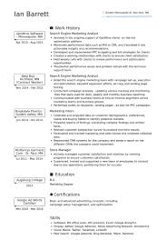 Sample Marketing Resumes by Marketing Analyst Resume Samples Visualcv Resume Samples Database
