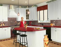 Red Kitchen Walls by Ceramic Floor Tiles Painting Personalised Home Design