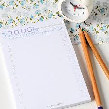 Would Love To Do Things by Set Of 4 To Do List Pads Great Gift For A Stationery Lover Or