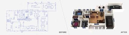 Hand Rendered Floor Plan Floor Plan Redraw Service U2013 Boxbrownie Com