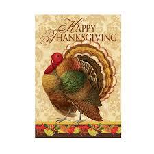 thanksgiving turkey garden flag the green thumb