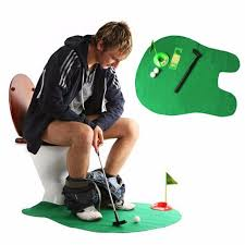 mini potty putter toilet golf game warning keep from fire age