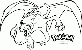 charizard coloring pages mega charizard pokemon coloring pages