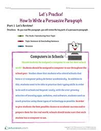 let u0027s practice how to write a persuasive paragraph worksheet