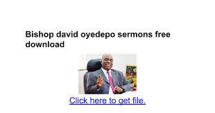bishop david oyedepo sermons free docs
