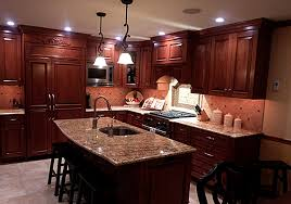 Cherry Wood Kitchen Cabinets With Black Granite Cherry Kitchen Cabinets Black Granite Cabinet With Medium