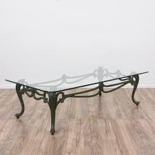 Cast Iron Loveseat Art Nouveau Cast Iron Glass Top Coffee Table Loveseat Vintage