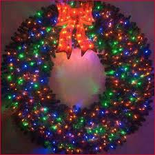 outdoor wreath with lights really encourage lighted