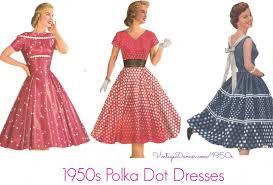 1950 Halloween Costume Polka Dot Dresses Retro Style 1920s 1960s