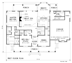 Stair Floor Plan Like Porch To Basement Stair First Floor Plan Of The Fitzgerald
