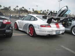 widebody porsche 911 white widebody porsche 911 at 2009 gumball 3000 3 madwhips