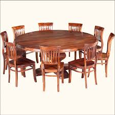 Large Square Kitchen Table by Rustic Solid Wood Large Round Dining Table U0026 Chair Set Large