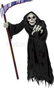 Grim Reaper Halloween Costume Halloween Horrible Grim Reaper Stock Vector Colourbox