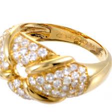 golden ferrari with diamonds chaumet women u0027s 18k yellow gold diamond pave ring