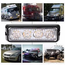 use of amber lights on vehicles 4 led car truck emergency beacon light bar hazard strobe warning