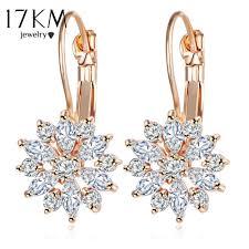 flower stud earrings 2018 17km gold color flower stud earrings for women