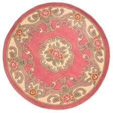 Round Pink Rugs by Decor Luxury Aubusson Rugs For Floor Decoration Ideas