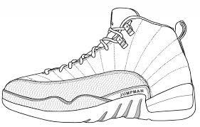 jordan shoes coloring pages printable bltidm
