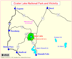 map of oregon near crater lake crater lake america us places you should see