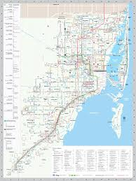 Coral Gables Florida Map by Miami Transport Map Include Metrobus U2022 Mapsof Net