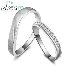 Sterling Silver Wedding Ring Sets by Simple Wave Couple Promise Rings Set Sterling Silver Wedding Ring