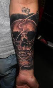 Forearm Skull - skull forearm dice ideas designs
