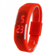 rubber bracelet watches images New fashion sport led watches candy color silicone rubber touch jpg